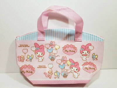 SANRIO MY MELODY Lunch Bag Tote 2015 PINK Insulated Sack MOUSE SQUIRREL Dots