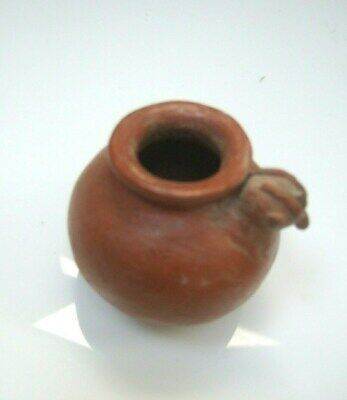 PreColumbian red brown glazed bird vessel Nicoya circa 500 AD