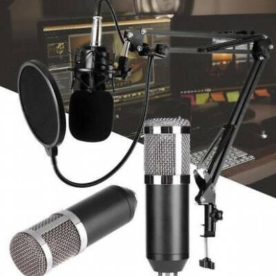 BM800 Audio Vocal Studio Condenser Microphone Kit Scissor Arm Stand Shock UK