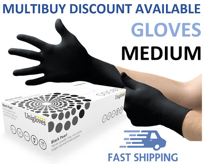 Disposable Heavy Duty Nitrile Gloves Anti Virus Free Medical Gloves Black Medium