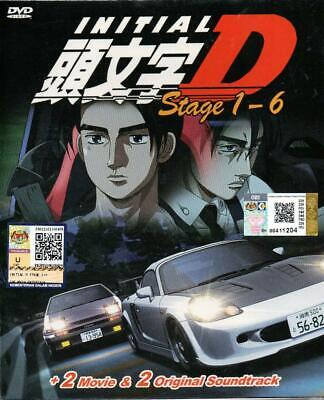 Anime DVD Initial D Stage 1-6 + 2 Movie + 2 OST English Subtitle Free Shipping