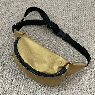 VINTAGE BUMBAG 1980's Gold CHILD Up To 13 Years BAG Fanny Pack Retro