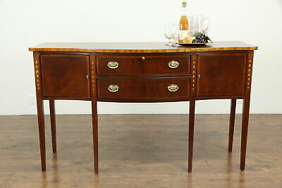 Traditional Inlaid Mahogany& Marquetry Sideboard or Server, Ethan Allen #33337