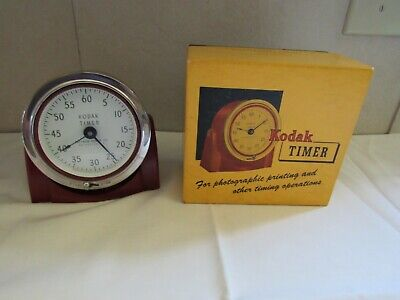 Vintage Eastman Kodak Red Darkroom Photography Developing Timer Works Antique
