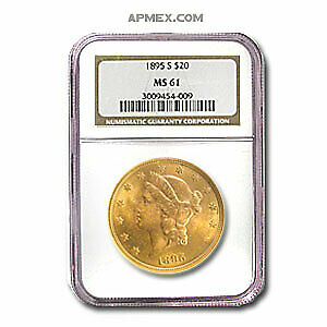 1895-S $20 Liberty Gold Double Eagle MS-61 NGC - SKU#24383