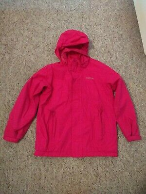 Girls Pink Regatta waterproof jacket fleece lined, hood 9 - 10 Years quality