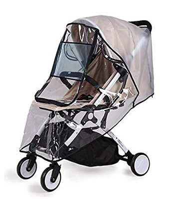 Universal Baby Stroller Rain Cover Weather Shield with 2 Free Sippy Cup Straps