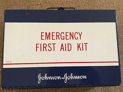 Johnson & Johnson Metal Emergency First Aid Kit