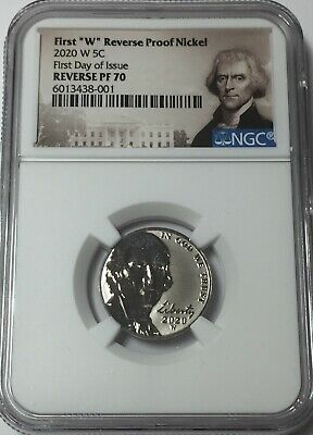 2020-W NGC PF70 JEFFERSON NICKEL REVERSE PROOF FIRST DAY ISSUE portrait