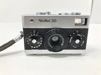Rollei 35 Film Camera W/Zeiss Tessar 40Mm F3.5 Lens Germany *Works See Listing*