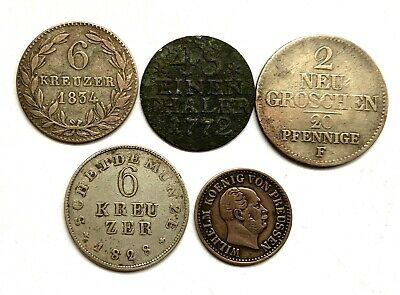 Germany Silver 5 Old Coins