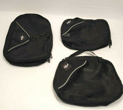 Eagle Creek Wallaby II Hanging Travel Toiletry Kit  & 2 Packing Cubes Black
