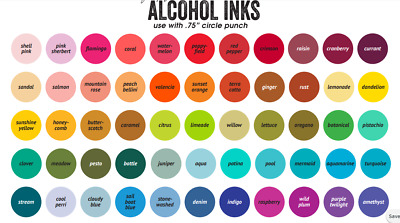 Tim holtz alcohol ink *You choose colors*