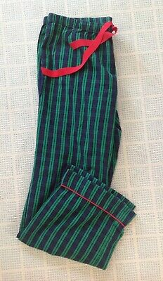 VINEYARD VINES Womens Small Navy/Green Plaid Ribbon Tie PJ Lounge Pajama Pants