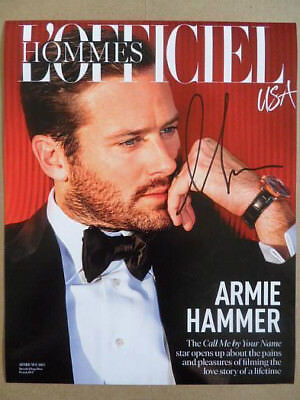 "Armie Hammer Signed ~Autographed Photo ""Call Me by Your Name"""