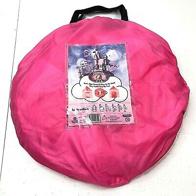 """Girls Pink Princess Glow in The Dark Play Castle Pop Up Tent 54"""" x 41"""" NEW"""