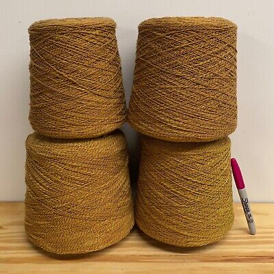 9+ POUNDS! Yarn Lot 3 XLARGE 100/% Cotton Cones Brown Knitting