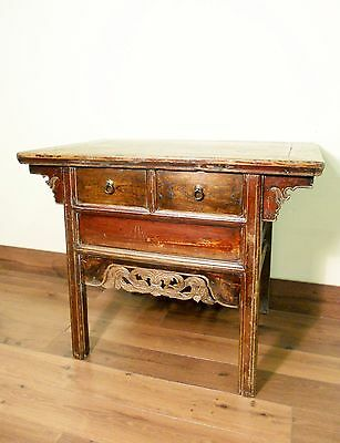 """Antique Chinese Ming """"Butterfly"""" Coffer (5597), Camphor Wood, Circa 1800-1849"""