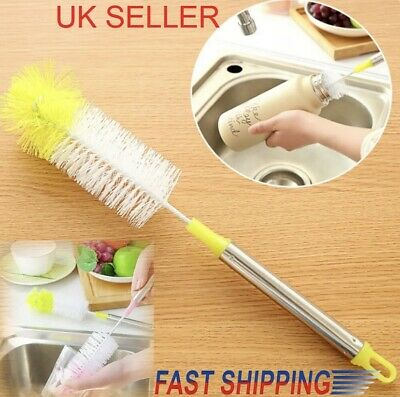 UK Long Handle Bottle Cup Cleaning Brush Brew Scrubbing Cleaner Kitchen Washer