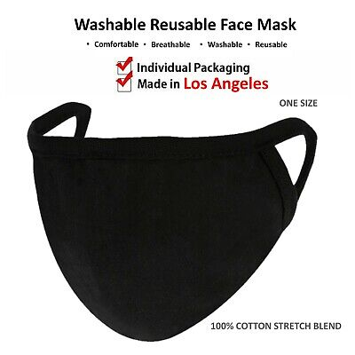 Unisex Face Nose Mask Washable Reusable Soft Double Layer Cotton Made In USA
