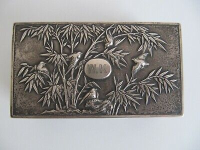 Antike Dose Schatulle Silber Chinese Export Silver Box Luen Wo Shanghai China