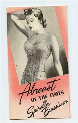 Abreast of the Times Spirella Brassieres Brochure 1930's