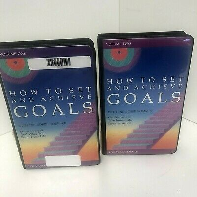 Lot of 2 How to Set and Achieve Goals:  Dr Bobbe Sommer VHS Video Seminars