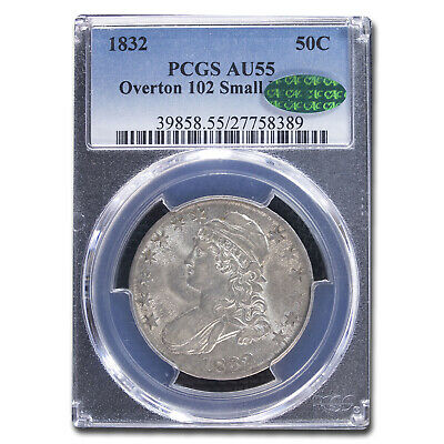 1832 Capped Bust Half Dollar AU-55 PCGS CAC (O-102,Small Letters) - SKU#212280