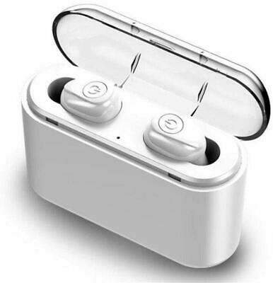 Waterproof Bluetooth 5.0 Earbuds TWS Wireless Headset Noise Cancelling - White