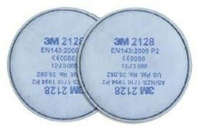 3M 2128 P2 R Charcoal particulate filters (Pair)