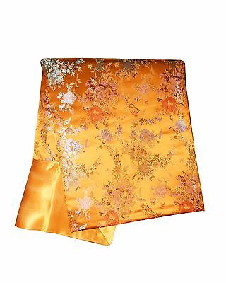 Art Silk Throw or Bed Scarf Gold 6102 Custom-Made in USA