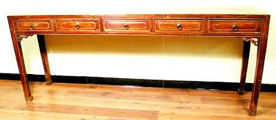 Antique Chinese Painting Table (3176), Zelkova Wood, Circa 1800-1849