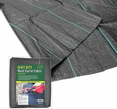 Heavy Duty Woven Weed Control Fabric Membrane Garden Landscape Ground Cover