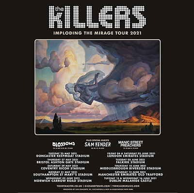 Killers Souvenir Fridge Magnet Imploding The Mirage Tour 2021 May/June Uk Dates
