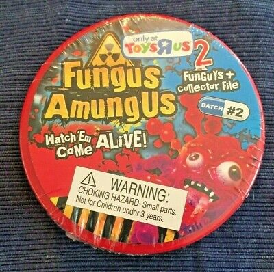FUNGUS AMUNGUS TOYS R US BATCH #2 PETRI DISH 2 FUNGUYS & COLLECTOR FILE Red New