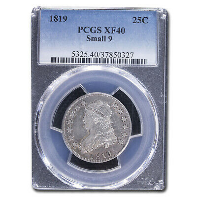 1819 Capped Bust Quarter XF-40 PCGS (Small 9) - SKU#212350