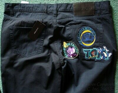 New/NWT Vintage Dope Gilmar Italy Iceberg History Tom and Jerry Pants/Jeans-S=34