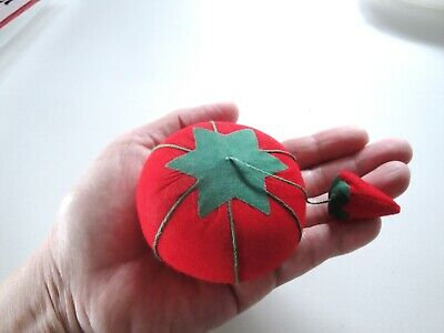 "Small Tomato Pin Cushion, 2.5"", Sewing Notions"
