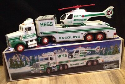 1995 Hess Toy Truck and Helicopter Original Box