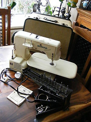 Vintage Retro Bernina 530 Record Sewing Machine with Case & Extras