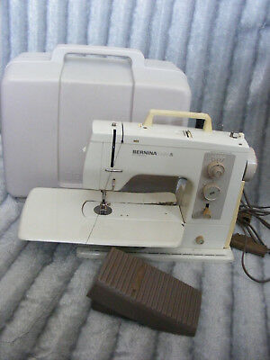Bernina 801 Matic Electronic Sewing Machine with Pedal & Case Made Switzerland
