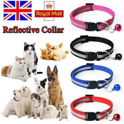 Pet Cat Dog Reflective Collar Flashing Light Up Night Safety Collars with Bells