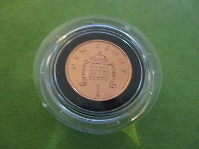 1981 Royal Mint  PROOF 1p (one new pence) encapsulated FDC condition