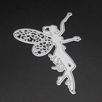 Wing Flower Fairy Girl Metal Cutting Dies Stencil For Scrapbooking Card Craft UK