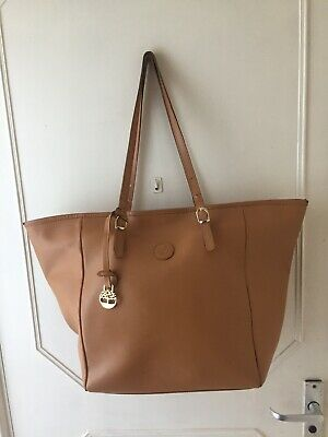 Gorgeous Timberland Large Bucket Style Tan Genuine Leather Shopper Shoulder Bag