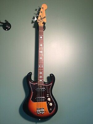VINTAGE CAMEO Teisco Bass 60's 70's Original Sunburst Matsumoku Japan