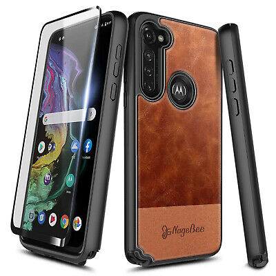 For Motorola Moto G Stylus Case Shockproof Leather Phone Cover + Tempered Glass