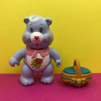 Vintage Care Bears Grams Grandma Poseable Toy Action Figure w/ Accessory 1980s