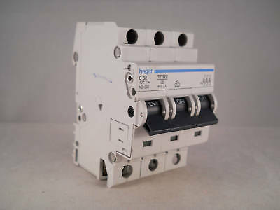 Hager MCB 32 Amp Triple Pole 3 Phase Circuit Breaker Type B 32A 462332 NB332
