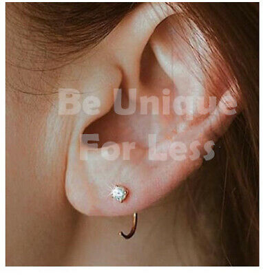 8mm Sterling Silver Hoop Cartilage Tragus Earrings Delicate Hammered Extra Small and Thin